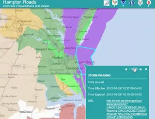 Hampton Roads Hurricane Preparedness Viewer